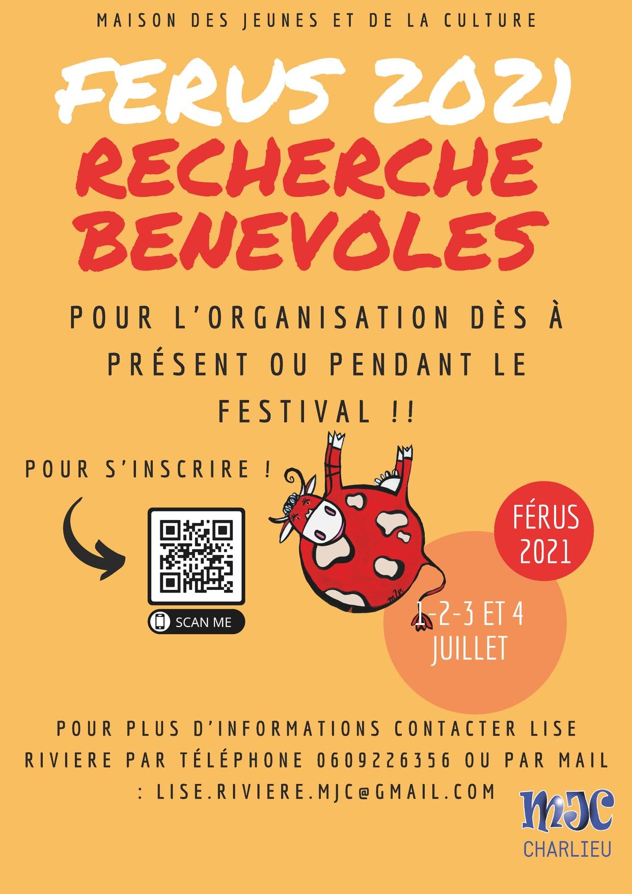 Le Festival des Férus 2021 recherche toujours des bénévoles !